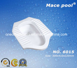 Good Type One-Piece Toilet Squatting Pan for Bathroom (6015) pictures & photos