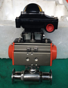 Pneumatic Sanitary Ball Valve with Limit Switch pictures & photos