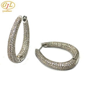925 Silver Earrings 925 Sterling Silver Earrings Beautiful Earrings High Quality Double Round Earrings (E6954B) pictures & photos