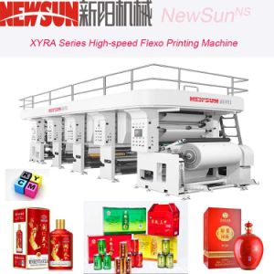 Xyra-1100 High-Speed Cigarette Package Flexo Line Printing Machine pictures & photos