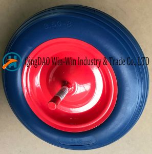 Flat-Free PU Wheel with Colorful Rim (3.50-8) pictures & photos