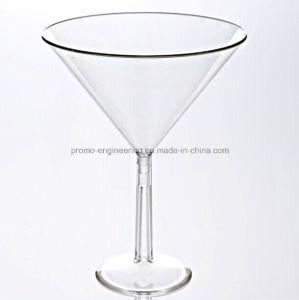 8oz Goblet Plastic Stem Cocktail Cup with Detachable Base pictures & photos