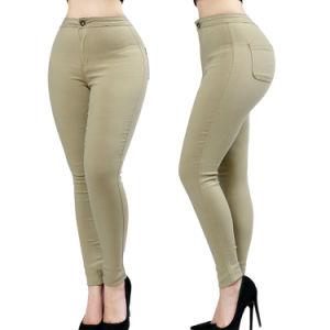 Wholesale Ladies Skinny Pants Fashion Cotton Chino Pants