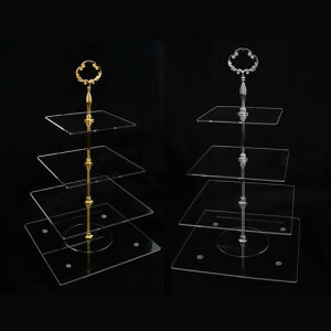 4-Layer Acrylic Display Stand, Store Cake Display Rack pictures & photos