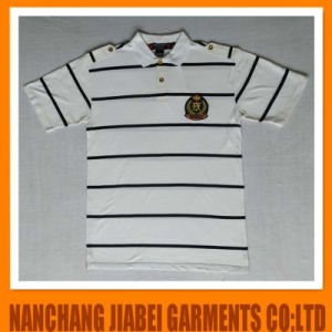 Men′s Yarn Dyed Polo Shirt CVC with Embroidery pictures & photos
