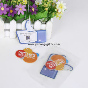 Long Lasting Smell Promotional Gifts Hanging Paper Air Freshener (YH-AF227) pictures & photos