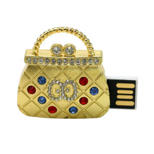 Waterproof Handbag USB Thumb Drive Trendy Crystal Memory Stick Jewelry pictures & photos