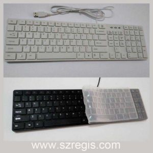 USB Wired Keyboard for Apple Universal Slim Multimedia Laptop Computer Keyboard pictures & photos