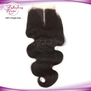Wholesale Price Midpart Body Wave Brazilian Hair 4 X 4 Lace Closure pictures & photos