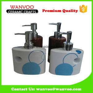 China Ceramic Modern Countertop Soap Dispenser with Plastic Pump pictures & photos