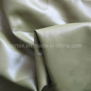 Twill Polyester Pongee Fabric with Oil Cire for Jacket