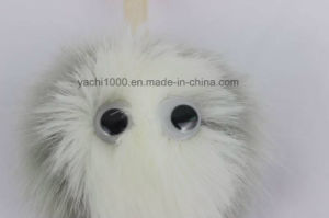 Plush Faux Fur Ball Keychains with Big Eyes pictures & photos