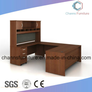 Luxury U Shape Office Table Wooden Executive Desk with Cabinet pictures & photos
