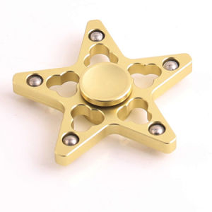 Five Pointed Star Shape 5 Bars Wind Finger Spinner pictures & photos