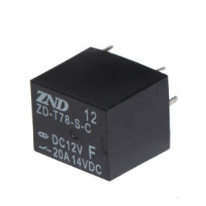 Miniature Size Automotive Realy 20A 5pins 12V T78 pictures & photos