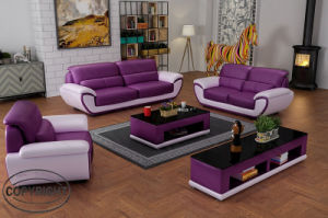 Pine Wood Leather Sofa Set Lz1688 for Living Room Furniture pictures & photos