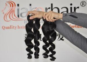 Unprocessed Labor Hair Extension 105g (+/-2g) /Bundle Natural Brazilian Virgin Hair Loose Wave 100% Human Hair Weaves Grade 9A pictures & photos
