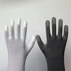 Poly Work Gloves with PU Coating pictures & photos