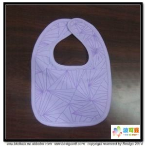 Purple Color Baby Accessory Custom Size Baby Bib pictures & photos