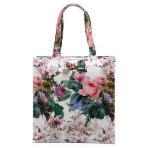 Retro Floral Printing Waterproof PVC Tote Bag (T001)