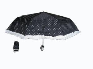 21inch Auto Open Manual Close 3 Folding Umbrella (3FU003) pictures & photos