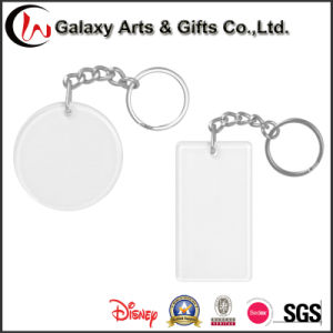 Round Shaped Clear Plastic Insert Picture Transparent Blank Acrylic Photo Key Chain
