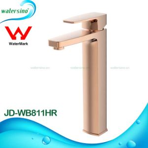 Rose Gold High Rise Basin Faucet Brass Mixer Tap for Bathroom pictures & photos