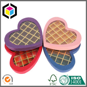 Heart Shape Clear Window Cardboard Chocolate Gift Paper Box pictures & photos
