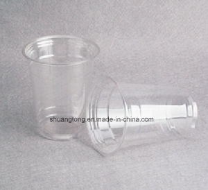 14oz Plastic Crystal Clear Cups for Iced Coffee, Bubble Boba, Smoothie pictures & photos