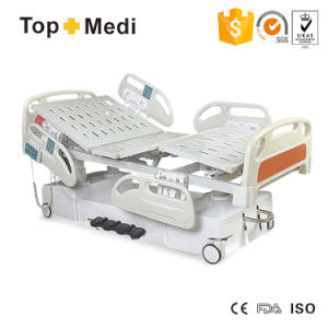 Hospital Equipment Seven Functions Steel Frame Electric Hospital ICU Bed pictures & photos