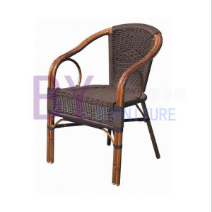 Simple Outdoor Aluminium PE Rattan Hand-Weaving Starbucks Chair pictures & photos