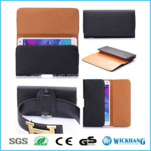 Horizontal Leather Belt Clip Universal Pouch Phone Case pictures & photos
