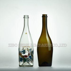 200ml Empty Cork Top Dark Green Red Wine Glass Bottle (NA-015) pictures & photos