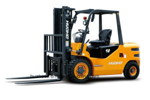 4.0Ton Diesel Forklift Truck with Japanese Engine(HH40Z-W2-D, ISUZU 4JG2 Engine)