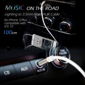 1m Aux to Lightning Cord Aux Cord 3.5mm Male Earphone Cable pictures & photos