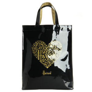 Two Sizes Waterproof PVC Heart Pattern Handbag (H003) pictures & photos