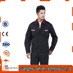 65%Polyester and 35%Cotton Custom Design Factory Worker Uniform with Navy-Red pictures & photos