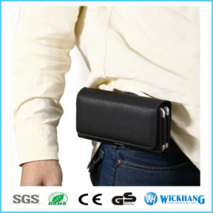 Horizontal Leather Belt Clip Holster Wallet Phone Case pictures & photos