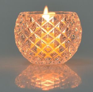 Ball Shape Glass Clear Color Tea Light Candle Holder pictures & photos