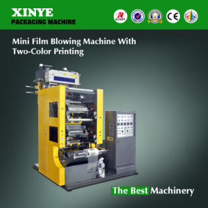 Plastic Film Blowing Machine with 2-Color Flexo Printing Machine pictures & photos