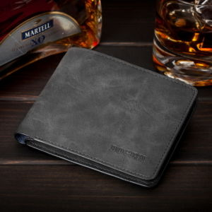 Burgos Authentic Korean Version of The New Man Purse Matte Thin Leather Wallet Male Short Men Wallet pictures & photos