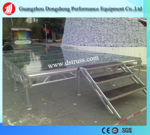 Movable Transparent Aluminum Tempered Glass Event Stage pictures & photos