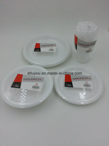 6/7/9/10 Inch Disposable Plastic Cheap White Plate pictures & photos