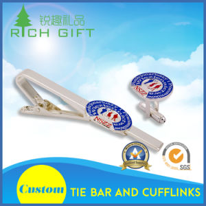 Wholesale Custom Fashion Metal/Brass/Enamel/Silver Cufflinks and Tie Pin Set for Men Shirts pictures & photos