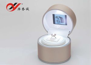 Colorful PU Leather Ring Box with Video and Spot Light pictures & photos