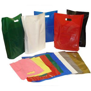 Factory Wholesale Glossy LDPE Fold Over Die Cut Handle Custom Plastic Bags pictures & photos