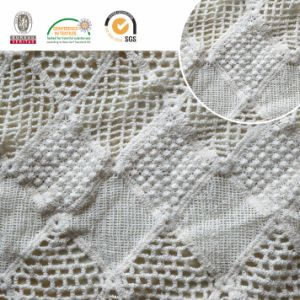Square Cotton Chemical Lace Fabric Garments Accessories with High Quality E10037 pictures & photos
