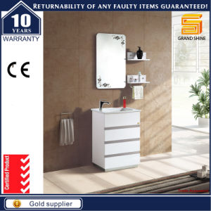 Solid Wood White Lacquer Wall Mounted Bathroom Furniture Cabinet pictures & photos