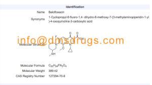 High Purity Antibiotics Powder Balofloxacin GMP Factory pictures & photos