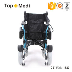 Detachable Samsung Battery Aluminum Foldable Electric Wheelchair by Aircraft Travel pictures & photos